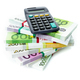 Financial Accounting Concept. euro bills with a calculator - PhotoDune Item for Sale