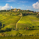 Panzano in Chianti vineyard and panorama at sunset. Tuscany, Italy - PhotoDune Item for Sale
