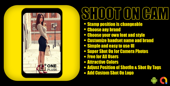 Shot On CAM   ShotOn Stamp Camera   Auto Add ShotOn Camera photo  Android App   Admob Ads