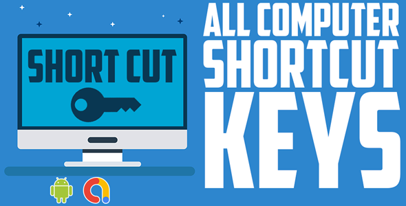 computer shortcut keys app  Software Shortcut Keys  All in One Shortcut's   Android app  Admob ads