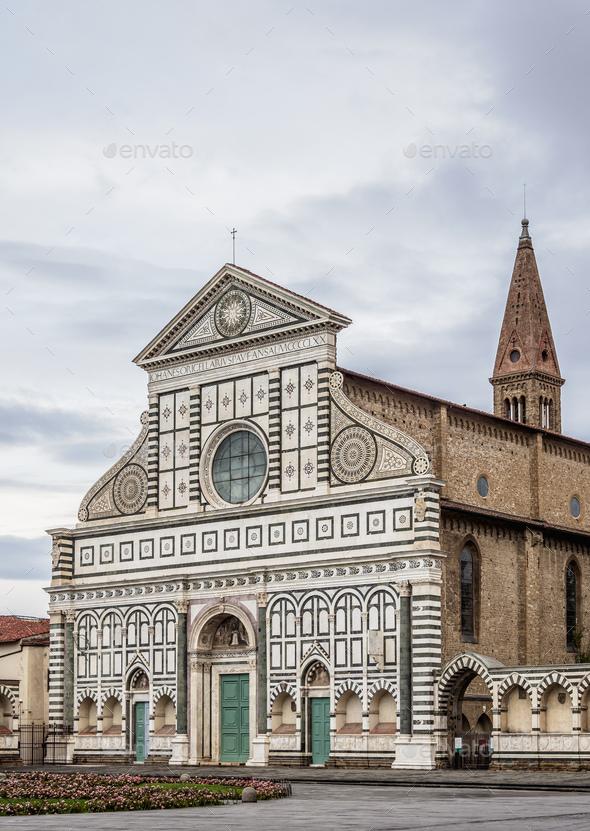 Santa Maria Novella Basilica in Florence, Italy - Stock Photo - Images