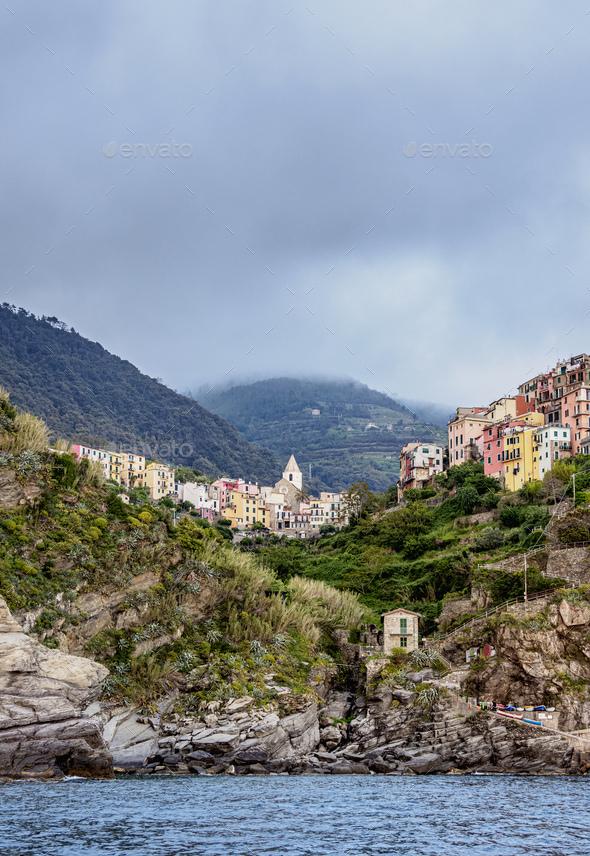 Corniglia in Cinque Terre, Italy - Stock Photo - Images