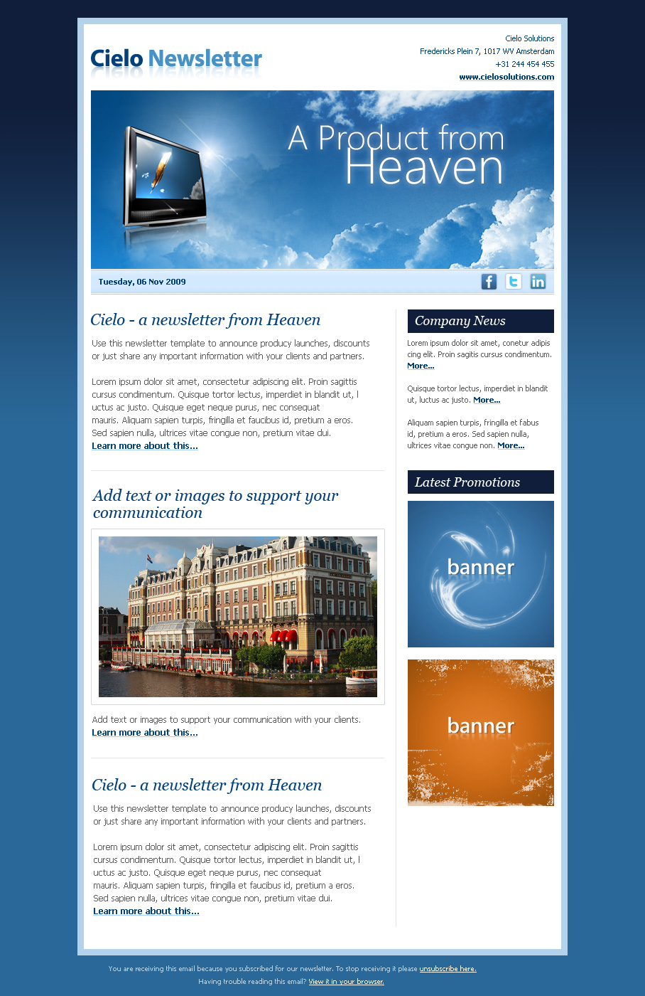 Cielo newsletter by seal themeforest cielo newsletter newsletters email templates 279045screenshots1newsletterblueg fbccfo Choice Image