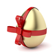 Gold egg with red ribbon - PhotoDune Item for Sale