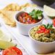 Guacamole, tomato sauce salsa and chips nachos - PhotoDune Item for Sale