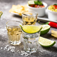 Shots of silver and gold tequila - PhotoDune Item for Sale