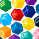 Colored Alphabet Cubes - GraphicRiver Item for Sale