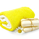 Soap white with chamomile and towels - PhotoDune Item for Sale