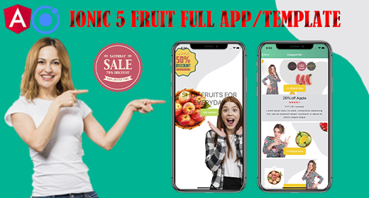 Ionic 5 Fruits Commerce Shop App With Admin Backend