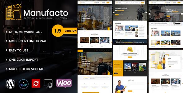 Excellent Manufacto -  Factory WordPress Theme