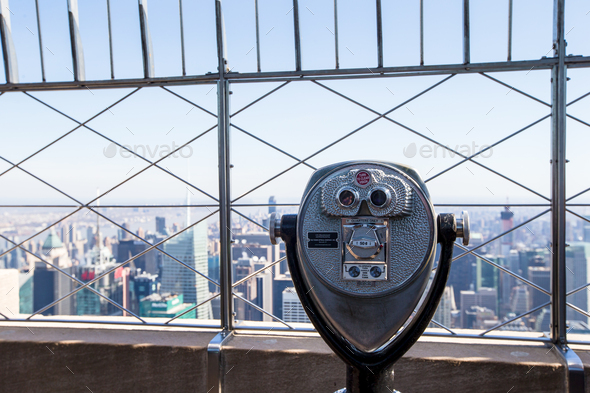 Beautiful view from the rooftop of Empire State Building, New York - Stock Photo - Images