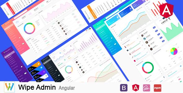 Wipe Admin – Angular 8+ Bootstrap 4+ Multipurpose Admin Dashboard Template