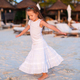 Adorable little girl have fun at sunset beach - PhotoDune Item for Sale