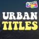Urban Titles | FCPX - VideoHive Item for Sale