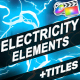 Cartoon Electricity And Titles | FCPX - VideoHive Item for Sale