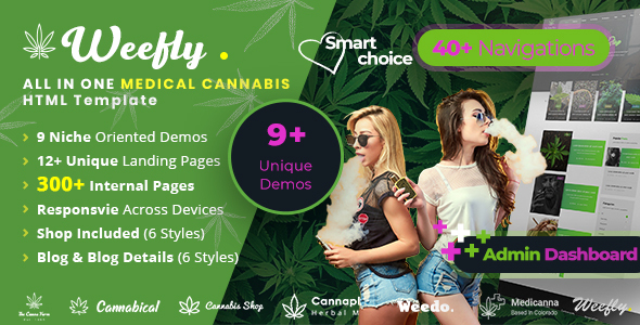 Weefly | Medical Cannabis HTML5 Template