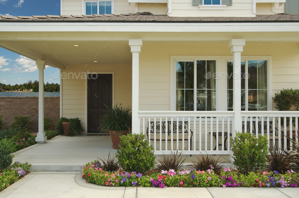 Newly Constructed Modern Home - Stock Photo - Images