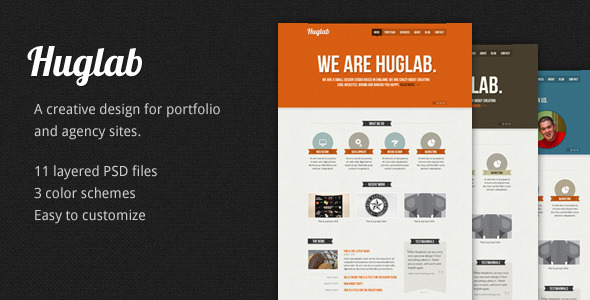 Huglab: Business Portfolio PSD Template