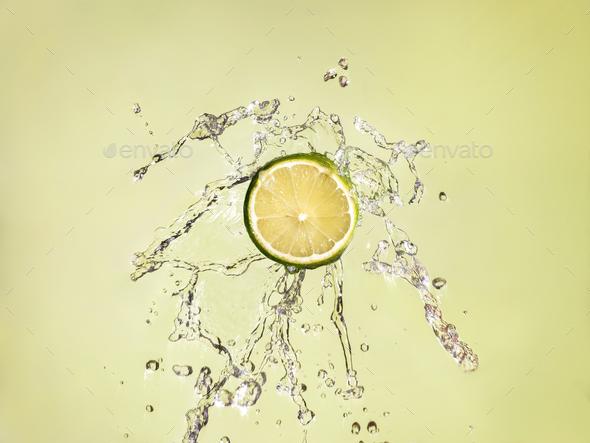 Lime Splash - Stock Photo - Images