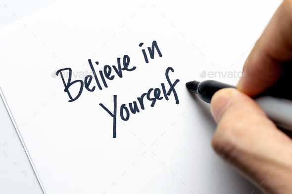 Believe in yourself typography - Stock Photo - Images