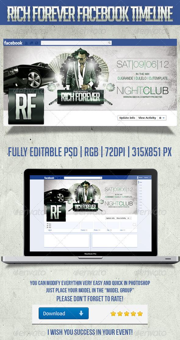 Rich Forever TimeLine - Facebook Timeline Covers Social Media