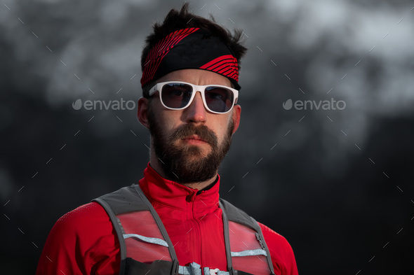 Portrait of sporty man - Stock Photo - Images