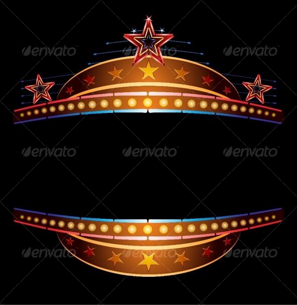 Neon with stars - Decorative Symbols Decorative