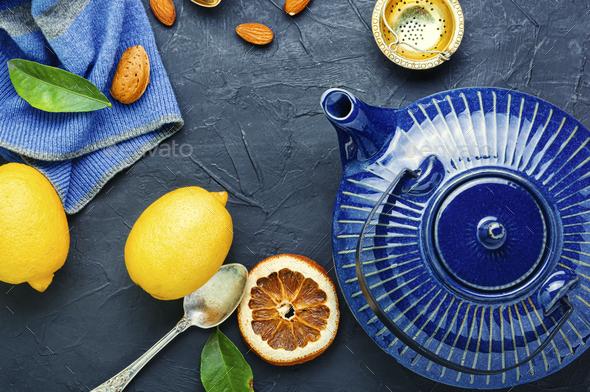 Tea with lemon - Stock Photo - Images
