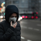 Child with Air Pollution Mask, Traffic in the Background - PhotoDune Item for Sale