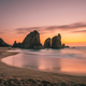 Ursa Beach near Cape Roca at Atlantic Ocean coast in Portugal. Sand beach with sea stacks in evening - PhotoDune Item for Sale