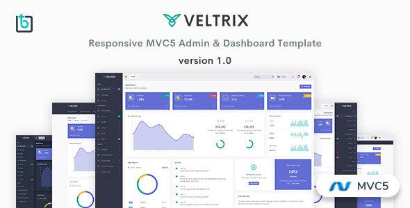 Extraordinary Veltrix - MVC5 Admin & Dashboard Template