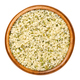 Hulled hemp seeds in wooden bowl over white - PhotoDune Item for Sale