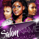 Salon Flyer and Business Card Templates - GraphicRiver Item for Sale