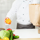 Unrecognizable Chef Unpacking Grocery Shopping Bag In Restaurant Kitchen, Cropped - PhotoDune Item for Sale