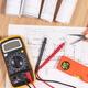 Electrical diagrams, multimeter for measurement - PhotoDune Item for Sale