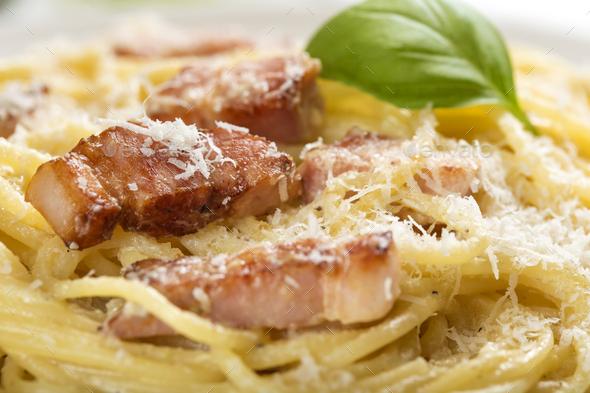 Italian pasta Carbonara - Stock Photo - Images