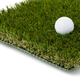 Golf Ball Resting on Section of Artificial Turf Grass On White Background - PhotoDune Item for Sale