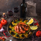 Paella with seafod and checken or paella mixta in a pan - PhotoDune Item for Sale