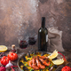 Spanish paella with seafood in a pan with copy space - PhotoDune Item for Sale