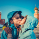 Happy tourists kissing on Red Square, Moscow - PhotoDune Item for Sale