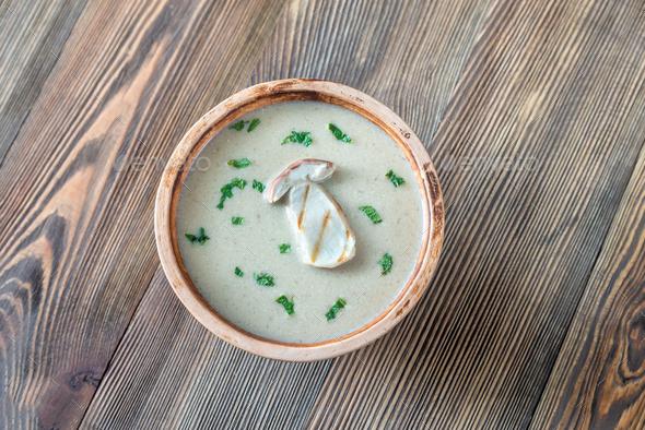 Creamy mushroom soup - Stock Photo - Images