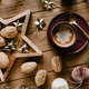 Hot chocolate and walnuts on a Christmas night - PhotoDune Item for Sale