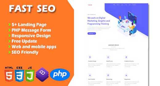 FAST SEO - landing page template
