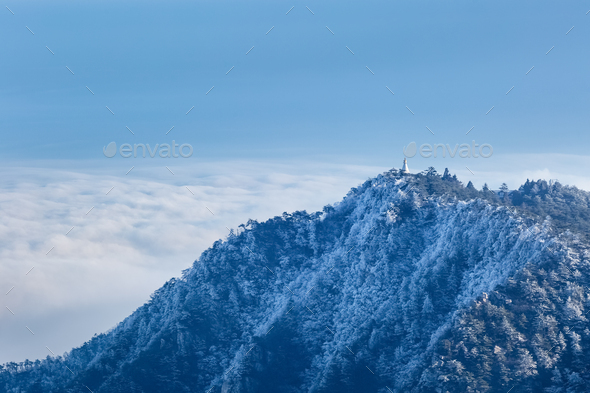lushan scenery in early winter - Stock Photo - Images