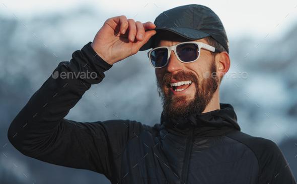 Adventurous explorer man - Stock Photo - Images