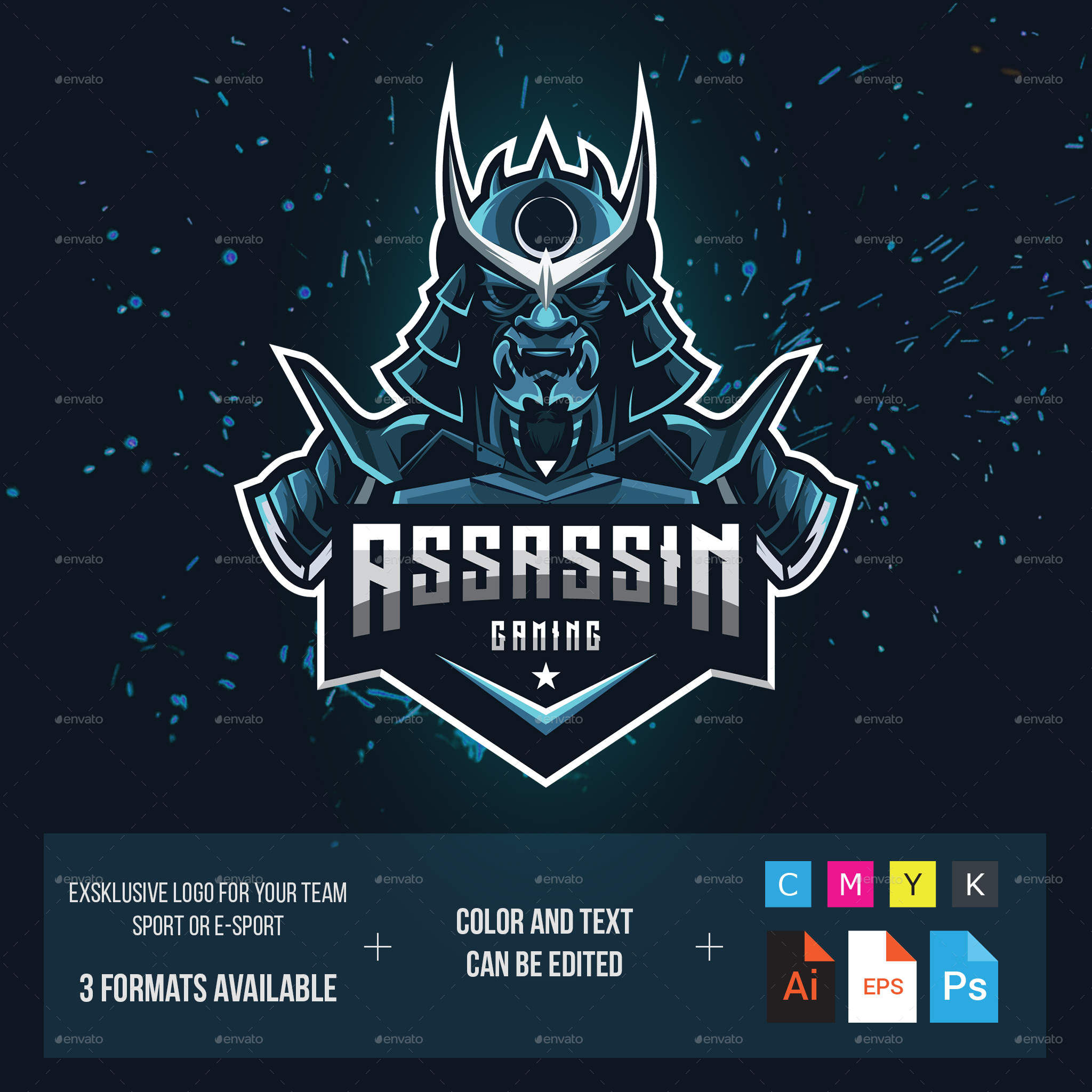 Assassin Gaming Logo for Your Team by modaldesain   GraphicRiver