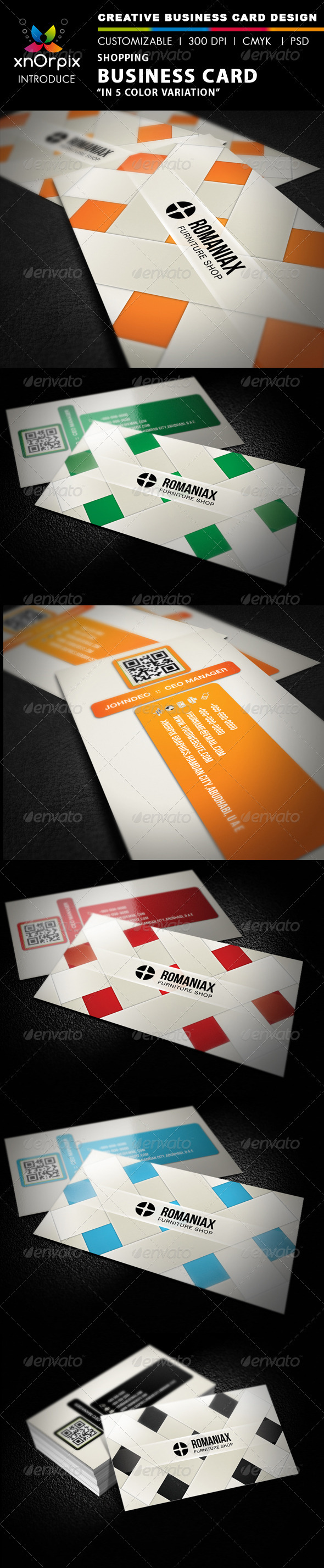 Shopping Business Card - Corporate Business Cards