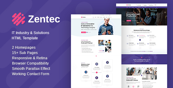 Zentec - IT Solutions and Services Company Template