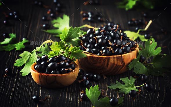 fresh black currants - Stock Photo - Images