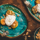 Turkish dessert with pumpkin in syrup, walnuts and whipped cream - PhotoDune Item for Sale